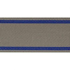 Elástico de telar reforzado gris y azul