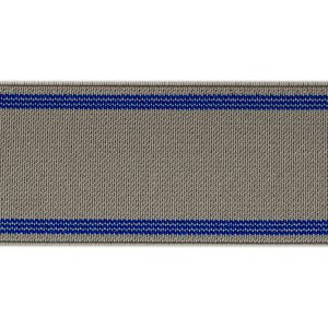 elastico de telar reforzado Novotex gris con tiras azules