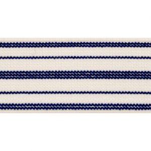 Elástico de telar reforzado de líneas azules