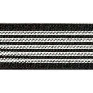 Elástico de telar reforzado de líneas blancas